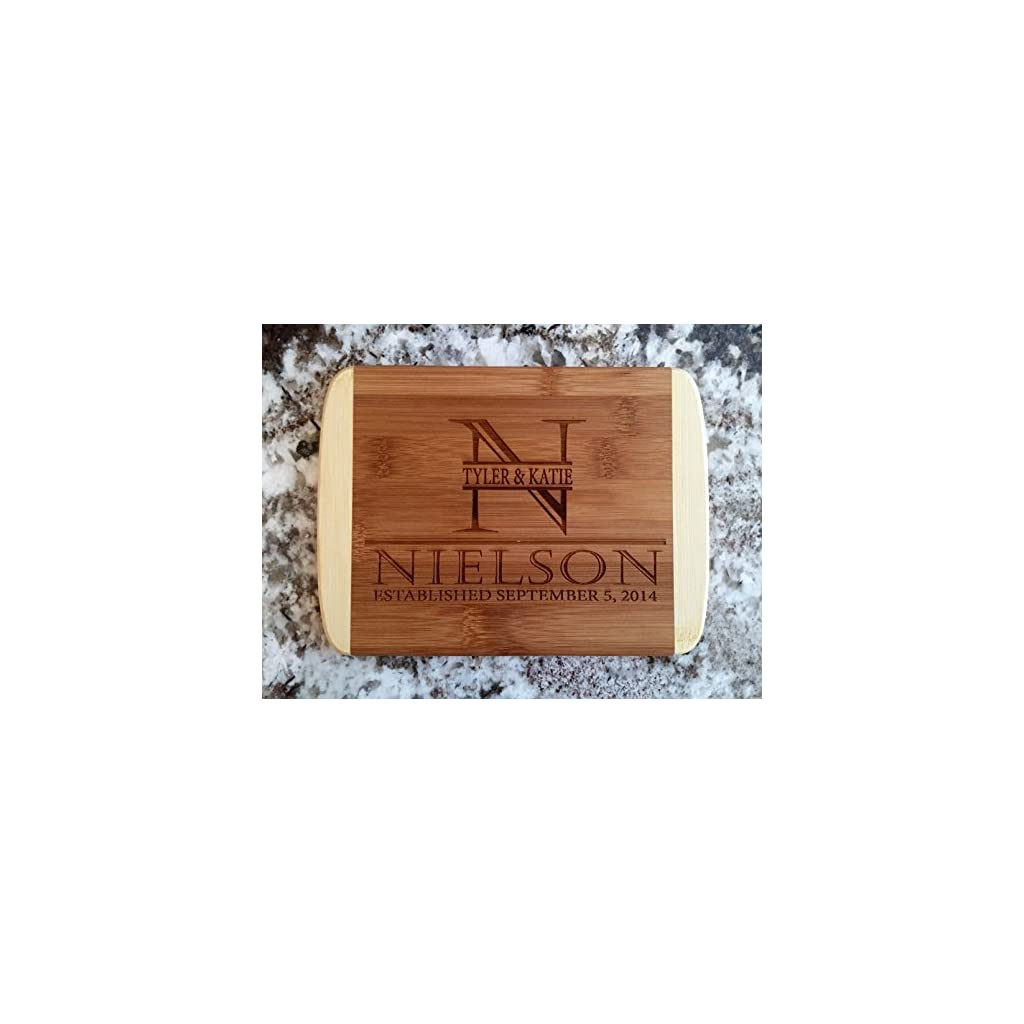 Personalized Cutting Board for Wedding Gifts – Wood Cutting Boards, Also Bridal Shower and Housewarming Gifts