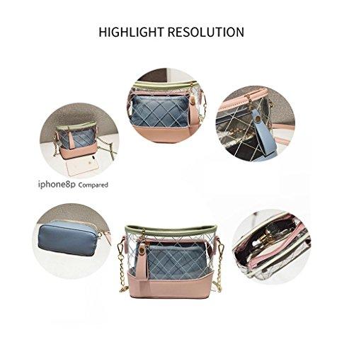 Cosmetic Zipper Body Bag Ladies Purse Chains Beach With Fashion Blue Transparent Bag Cross Clutch Bag Shoulder PVC Bag Bag Hologram XqTRxqAF