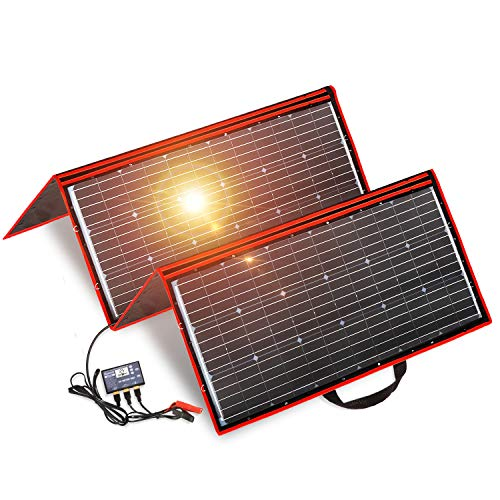 DOKIO 300 Watts 12 Volts Monocrystalline Foldable Solar Panel with Inverter Charge Controller