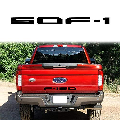Xotic Tech F-150 Letter Decal Tailgate Die-Cut Vinyl Sticker for Ford F-150 2018-up Matte - Die 150