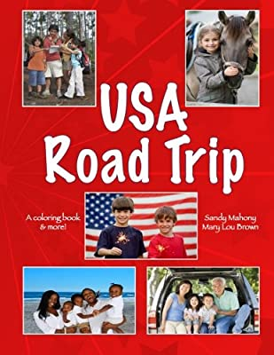 U.S.A. Road Trip Coloring Book