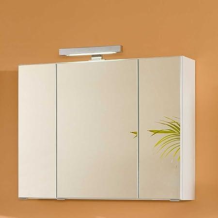 Pharao24 Badezimmer Spiegelschrank in Weiß 3D Breite 60 cm: Amazon ...
