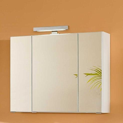 Badezimmer Spiegelschrank in Weiß 3D Breite 60 cm Pharao24: Amazon ...