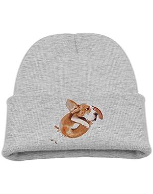 Beagle Dog Donut Boy's Warm Hat Cute Cotton Cap Beanies