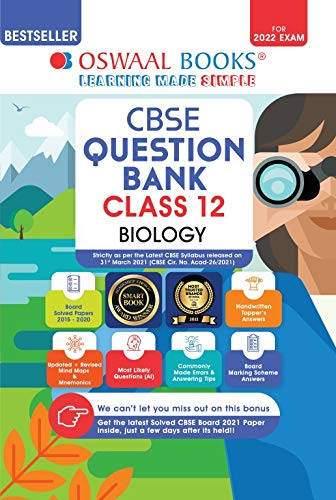 Oswaal CBSE Question Bank Class 12 Biology Book Chapterwise & Topicwise (For 2022 Exam) Paperback – 15 April 2021