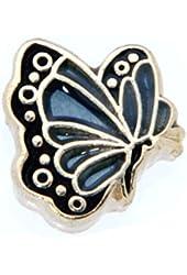 December Butterfly Enamel Birthmonth Charm for Floating Lockets