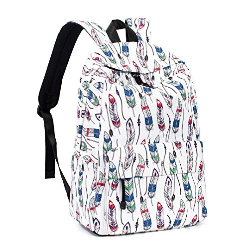 Backpack for Girls, College Bookbag School Daypack 14 Inches Laptop Bags by Leaper (White 1)