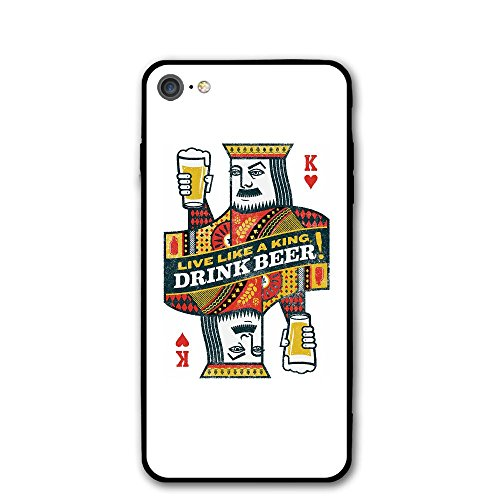 IPhone 7 Case Poker Beer Cheer Protective Shockproof Anti-Scratch Resistant Slim Cover Case For IPhone 7 Hard Shell (Cheer Visor)