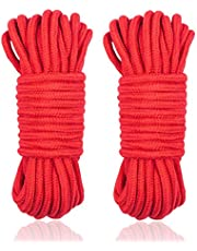 Soft Rope Cord, 2Pcs 10 M/33 Feet 8 MM All Purpose Cotton Rope Craft Rope Thick Cotton Rope