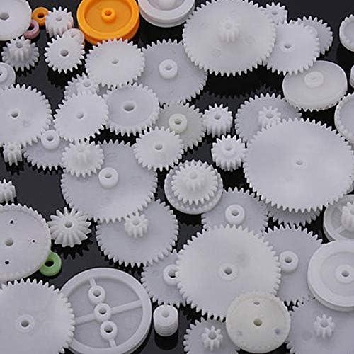 FGHGFCFFGH 64 Tipo di Ingranaggi a Corona in plastica Singolo Doppio Riduttore Motoriduttore a Vite Senza fine-Bianco