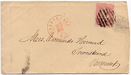 (US Postal Cover 1863 Canceled Providence, RI. Oct 26,1863 With 3 Cent US Postage Stamp Scott #65)