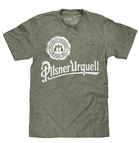 Tee Luv Pilsner Urquell T-Shirt - Licensed Pilsner Urquell Beer Shirt (X-Large)  Sage/Black Heather