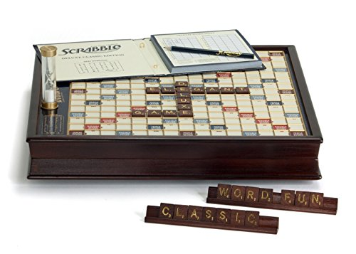 Winning Solutions  Scrabble Deluxe Wooden Edition with Rotating Game Board (Edition Scrabble)