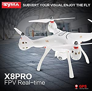 Amazingbuy - Syma X8PRO X8 Pro GPS Drone With 720P WIFI FPV Real-Time Camera Altitude Hold RC Racing Camera Drone Quad-copter RC Helicopter Toys from Amazingbuy