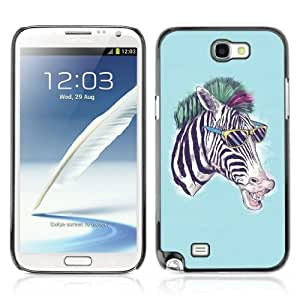 YOYOSHOP [Cool Zebra] Samsung Galaxy Note 2 Case by lolosakes