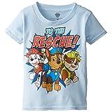 Paw Patrol Little Boys' Toddler Short Sleeve T-Shirt, Sky Blue, 2T