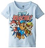 Paw Patrol Little Boys' Toddler Short Sleeve T-Shirt, Sky Blue, 3T