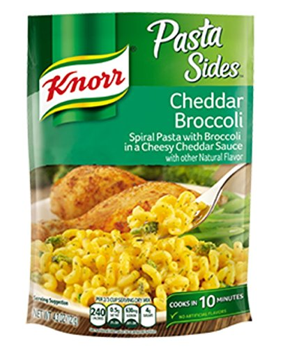 Broccoli Pasta Dish (Knorr, Pasta Sides, Cheddar Broccoli 4.3oz Pouch (Pack of 6))