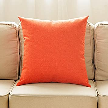Plusieurs Couleurs No Insert en Lin Orange Coussins Back Office Canap/é 30x45CM Simple Voiture Coliang Housse de Coussin Solide