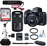 Canon EOS M50 Mirrorless Digital Camera with 15-45mm + 55-200mm...