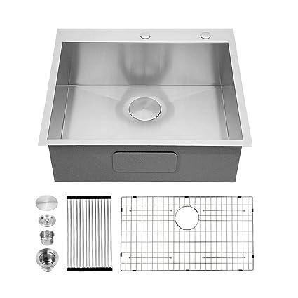 Amazon.com: Kichae - Fregadero de cocina (acero inoxidable ...