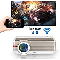 5000 Lumens WXGA WiFi Bluetooth Projector LCD HD 1080P Airplay Supported LED Android Home Theater Video Projector…