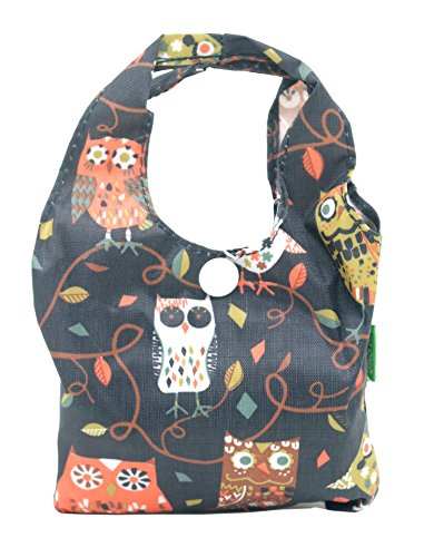 Eco Chic Foldable Shopper Bag (Owl Black)