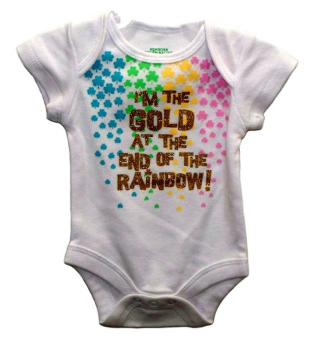 44b368b82 I'M THE GOLD AT THE END OF THE RAINBOW! Baby Onesie Dress Up Outfit  (Newborn) - Buy Online in Oman. | Apparel Products in Oman - See Prices, ...