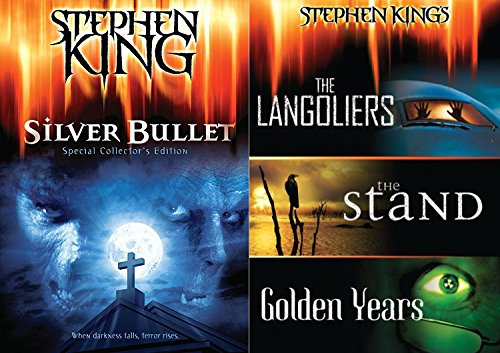 Stephen King Silver Bullet + The Langoliers / The Stand / Golden Years DVD Collection the Master of Horror Feature movie set bundle