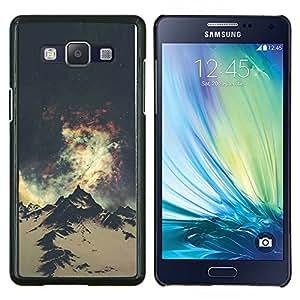 Everest Montaña Universo Cielo- Metal de aluminio y de plástico duro Caja del teléfono - Negro - Samsung Galaxy A5 / SM-A500