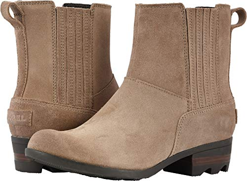 SOREL Women's Lolla Chelsea Boots (8 B US, Ash Brown/Buffalo Suede)