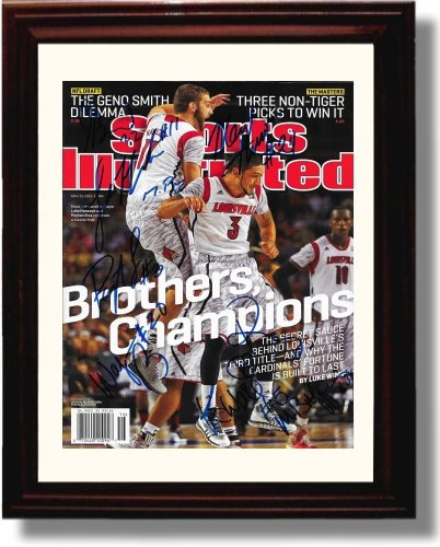 Framed Louisville Cardinals National Championship Sports Illustrated Autograph Replica Print