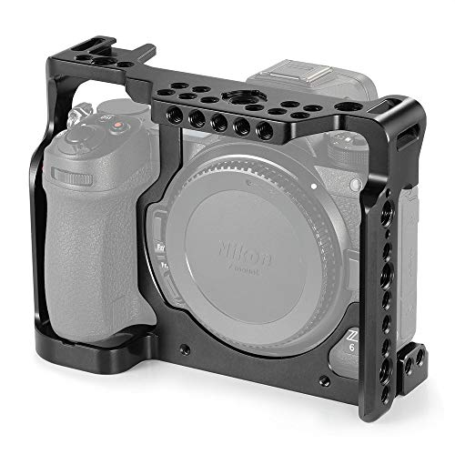 SMALLRIG Camera Cage for Nikon Z6 Z7 Camera with Built-in NATO Rail and Cold Shoe 2243