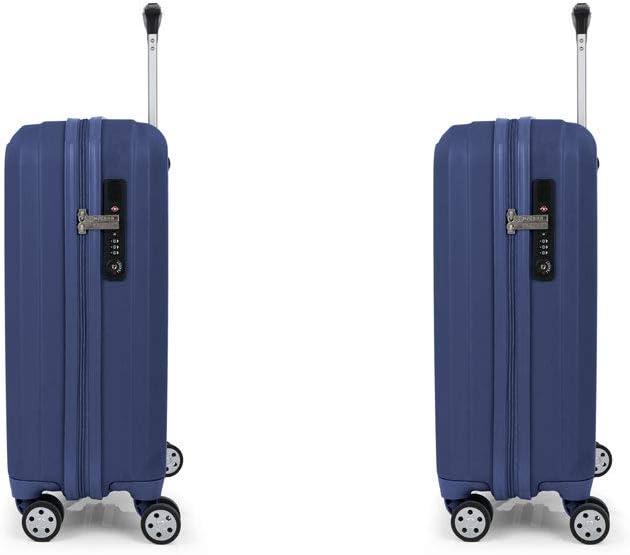 Gabol Clever Juego de Maletas de Viaje con Cargador para Movil Rigidas de Color Morado con 2 Maletas de Cabina