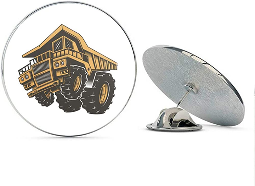 Way Cool WHITE TRACTOR  HAT or LAPEL PIN.....NICE!