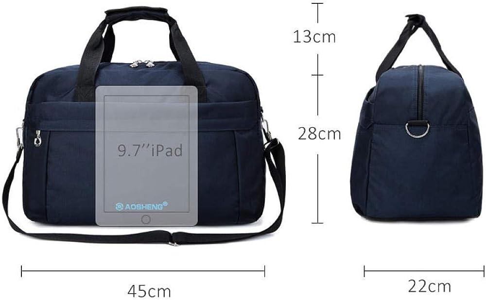 Nylon Large Capacity Women Shoulder Bags Travel Luggage Weekend Backpack Bags Solid Simple Waterproof Sport Crossbody Bag