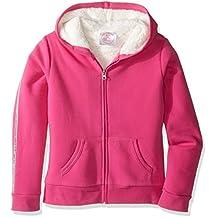 Dream Star girls Stand Collar Zip Neck Stripe Micro Fleece Pullover