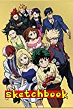 "Anime Sketchbook: My Hero Academia Sketchbook ,110 Pages Of ""6 x 9"" ,Blank Paper for Drawing, Doodling or Sketching"