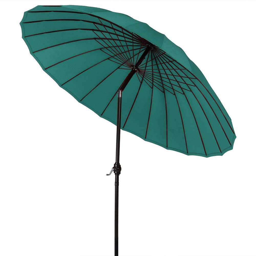 6.6 by 9.8 Ft Tilt and Crank for Patio Deck and Pool Light Beige ABCCANOPY Rectangular Patio Umbrella Solar Powered Outdoor Umbrellas Market Table Umbrella with 26 LED Lights