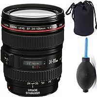 Canon 24-105mm L Lens (WHITE BOX) + Deluxe Lens Blower Brush + Lens Carrying Pouch