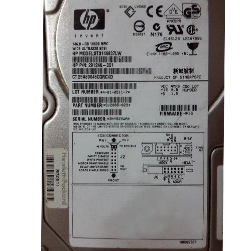 291246-001 146.8Gb 10000 Rpm U320 Ultra4 Scsi Nonplug Hard Drive