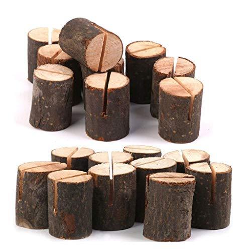 BBtime Log Photo Clip, Bark Stump Crafts Ornaments Large Card Slot Daily Supplies Health- Decorative Log Photo Clip Bark Stump Crafts Ornaments Large Card Slot Daily Supplies Health ()