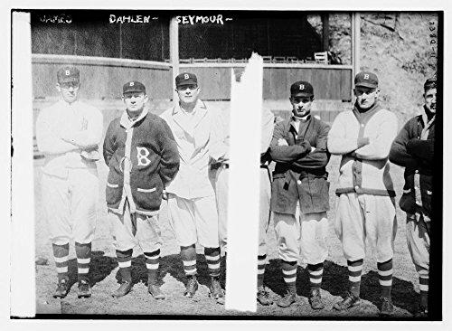 1912 Photo Bill L. James (pitcher), Bill Dahlen, & Cy Seymour, Brooklyn NL (baseball)