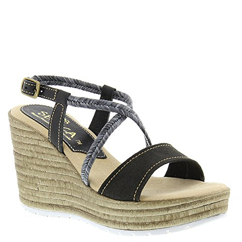 Sbicca Women's Alonza Black Sandal 9 M