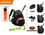 Laptop School Sports Basketball, Volleyball, Football, Softball Backpack Bags Black