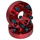 "Rugged Ridge 11300 Alloy USA Red 1.5"" Thick 5-on-5 Bolt Pattern Wheel Spacer - Pair"
