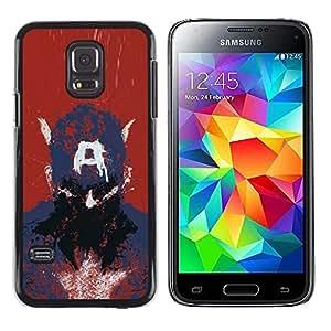 Caucho caso de Shell duro de la cubierta de accesorios de protección BY RAYDREAMMM - Samsung Galaxy S5 Mini, SM-G800 - Captain A Drawing