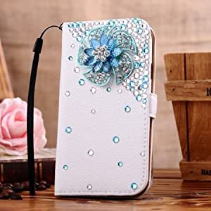 Cerhinu 1X NE3C(TM) Samsung Galaxy S4 SIV S IV i9500 Leather Folio Support Smart Case Cover With Card Holder & Magnetic...