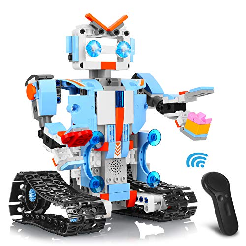AOKESI Remote Control Robot DIY Building Blocks Educational Kit Engineering STEM Learning Toys Intelligent Gift for Kids (351 Pieces)]()