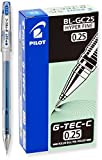 Pilot G-Tec-C Gel Rolling Ball Pens, Hyper Fine Point, Blue Ink, Dozen Box (35486)